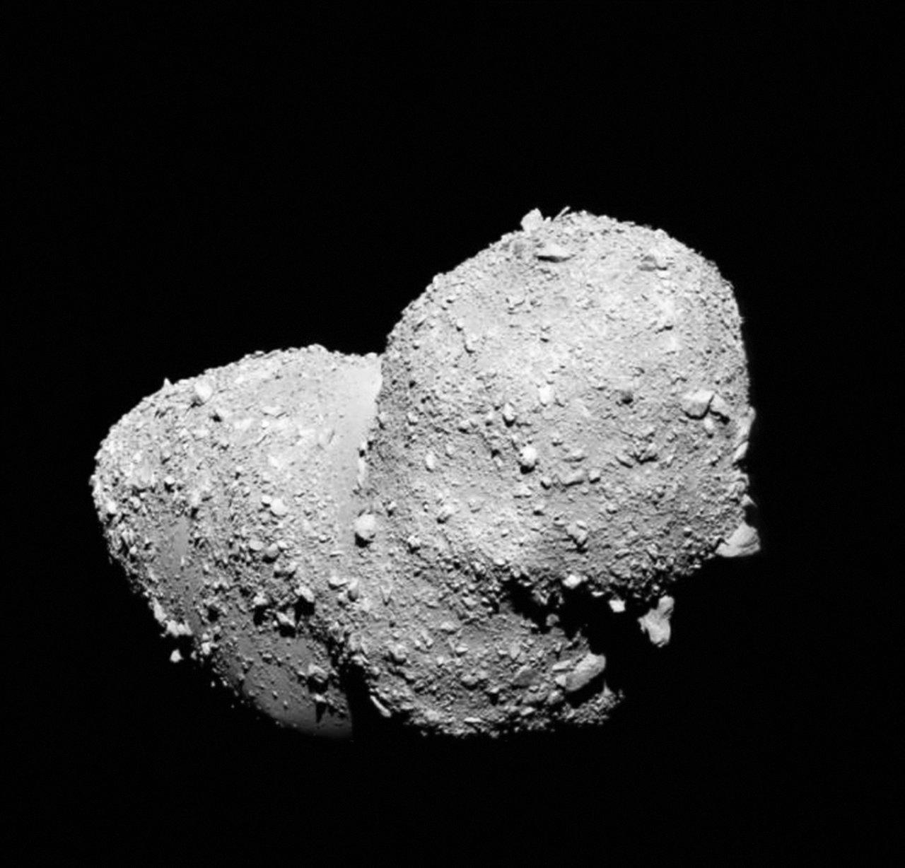 Vreemde oppervlak van planeto de itokawa is niet ontstaan door muesli effect - Kleine lay outs het oppervlak ...